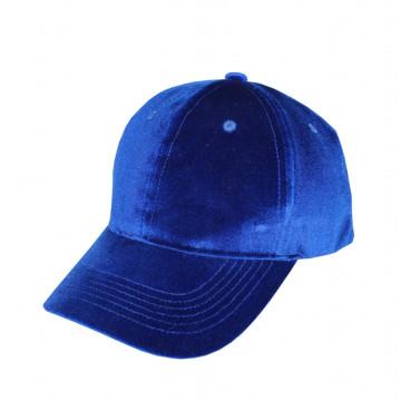 Gorra de terciopelo azul Hombres y mujeres sombreros casuales