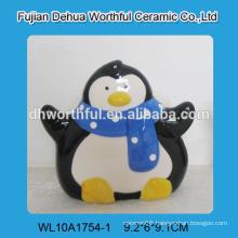 Lovely penguin ceramic napkin holder for wholesale