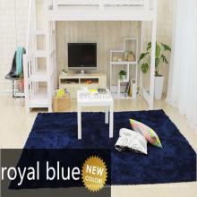 soft blue shaggy area washable carpet rug for sale