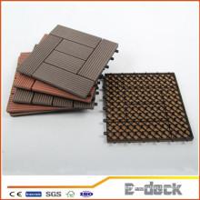 300 * 300 * 22mm Holz Kunststoff Verbund verriegelnde Outdoor-Kunststoff-Deckfliesen WPC