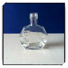 Flat Fancy Small Glass Wine Bottles Screw Lid Dahua