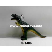 Nuevo juguete de dinosaurio plástico suave barato (991406)