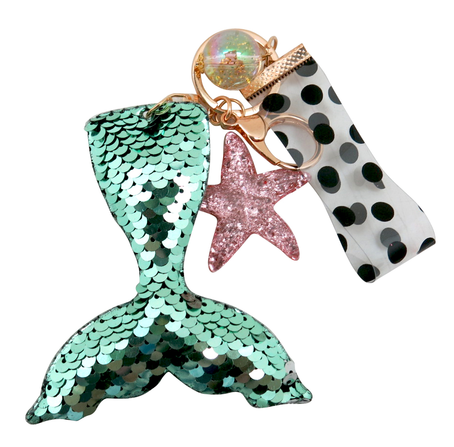 Mermaid Tail Sequin Key Chain 2