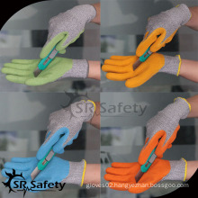 SRSAFETY latex coated work glove cut gloves rubber glove