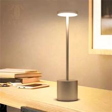 Lámpara de mesa de comedor con control táctil portátil con batería led