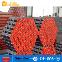 friction upper centring carrying pulley for belt conveyor