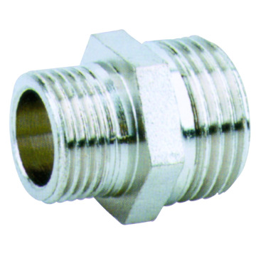 brass straight coupling nickle plated brass fitting
