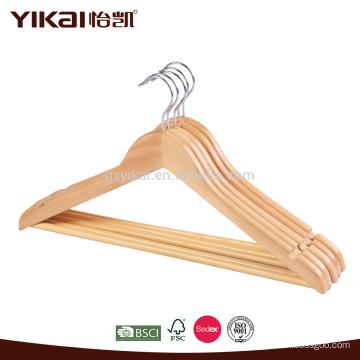 Отель, использующий рубашку и штаны, деревянная вешалка для одежды