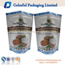 Sac d'emballage de fruits secs avec fermeture à glissière / sac d'emballage alimentaire pour écrou