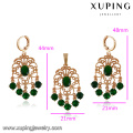 64096-Xuping Fashion Copper Alloy Woman Jewelry Set 18K Gold Plated Jewelry