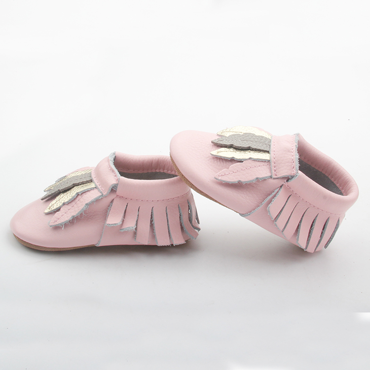 Comfortable Rubble Sole Shoes Baby Moccasins Girl