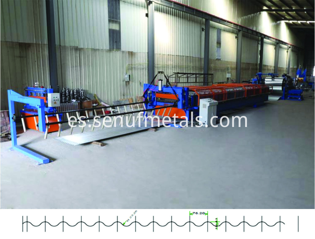 Corrugated roofing machine1