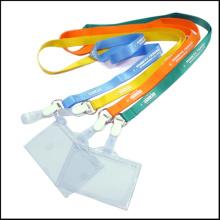 ПВХ / полипропиленовые убирающиеся идентификационные карточки / держатели для значков для шнуров
