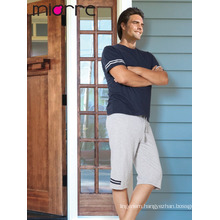 Miorre Men's Sleepwear Cotton Short Sleeve Capri Pajamas Set