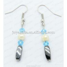 Boucles d'oreilles magnétiques en perles torsadées