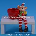 Cute mini floreros de Navidad florero de cerámica para la venta al por mayor