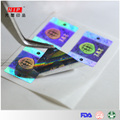 Customized Rainbow Silver Hologram Adhesive Label with Hologram Tech