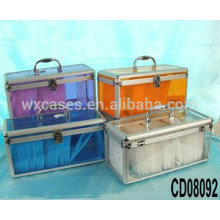 high quality 200 CD disks aluminum cd dvd case with clear acrylic panel as walls wholesale