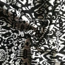 Tecido de impressão preto para roupas esportivas (HD1401103)