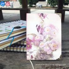 Cadernos de papel de capa dura de flor com 64k com cobre (XLJ64128-X02)