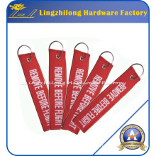 Custom Embroidery Remove Before Flight Keychains
