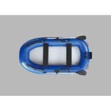 Perfekte blaue Fischerboot Jolle