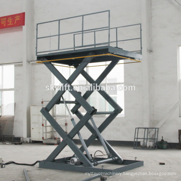 electric powered small platform scissor lift