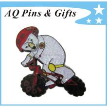 Alta qualidade personalizado metal lembrança lapela pin com epóxi (badge-046)