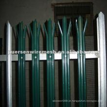 Alta Qualidade D ou W Pales Palisade Fence PVC Fabricação