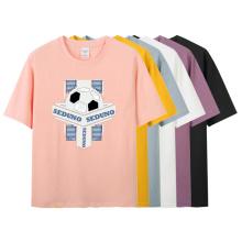 Women New Arrival Basic Anti-Shrink Bulk Cotton Summer Soft T-Shirt With Pattern