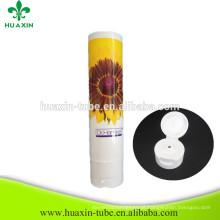 Tubo de creme de creme de clareamento de plástico com tampa superior Flip