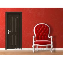 Moins cher bois porte intérieure porte en PVC / MDF