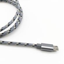 Cabo de carga USB trançado de nylon para Samsung S7