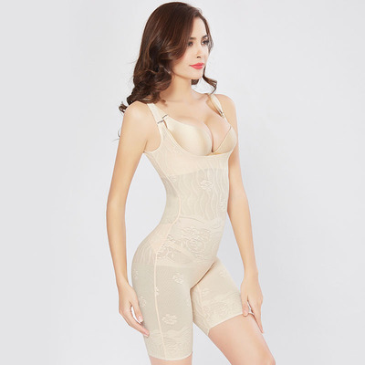 Flat Leg Pull-Off Thin Abdomen Corset Tight-Fitting Postpartum Waist Slimming Bodysuit