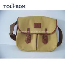 Tourbon новый стиль холст и кожа нахлыстом мешок старинные мешок рыболовства