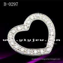 Pendentif coeur en argent sterling 925 avec CZ (B-0297)