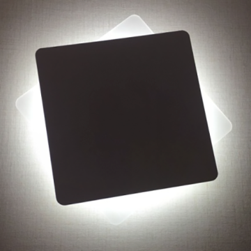 Aluminum black Square box modern indoor wall light