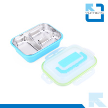 High Quality Stainless Steel 3 Compartments Korean Lunch Box Bento
