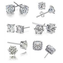 Mix designs of Crystal Earrings Zirconia Earrings Ladies Stud earrings