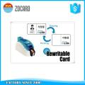 Carte de bande magnétique réinscriptible en plastique PVC