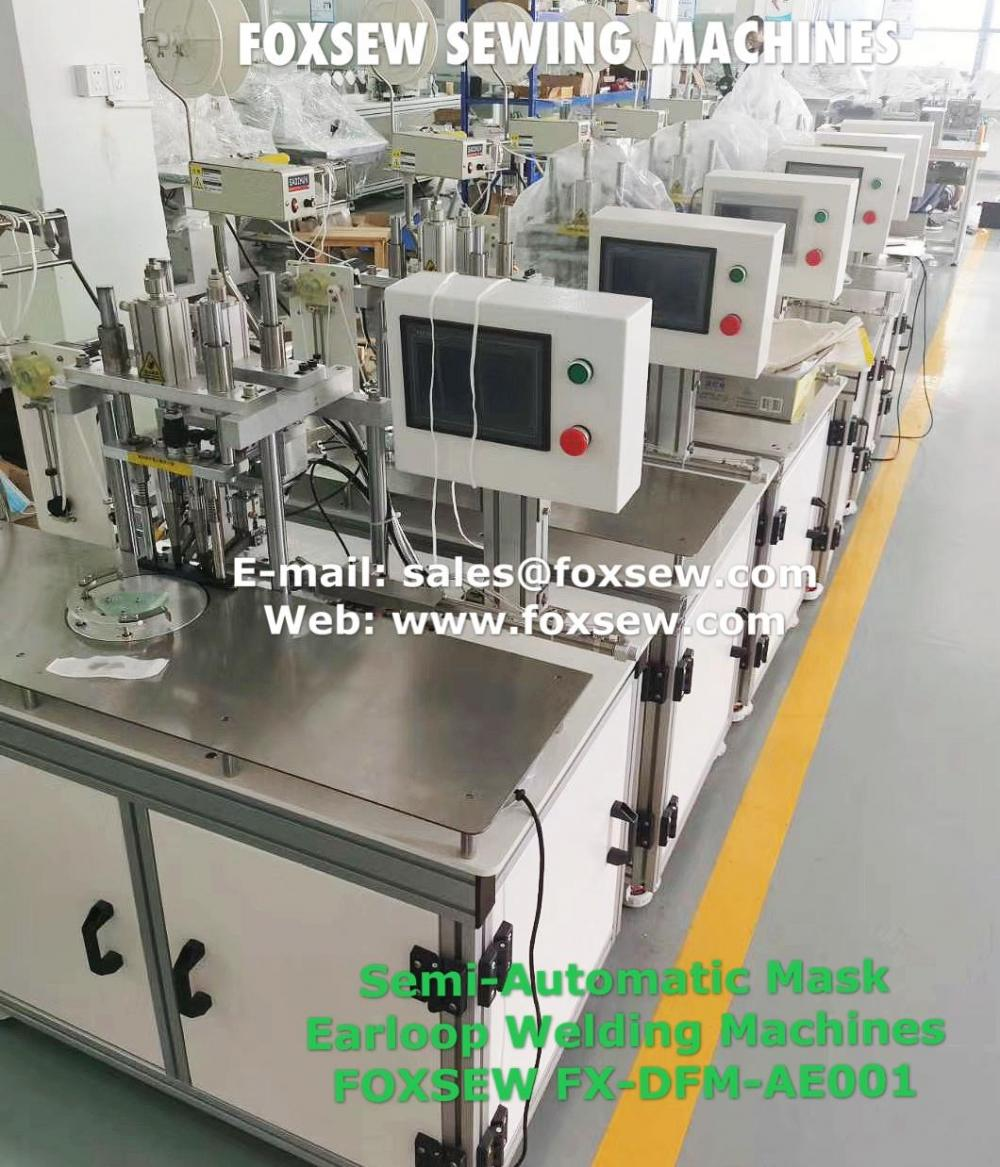 Semi Automatic Mask Earloop Welding Machines Fx Dfm Ae001 2