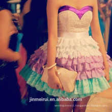 Fashion Teen Sexy Multi Colors Sweetheart Mini Short Lace Prom Dress Party Dress 2014