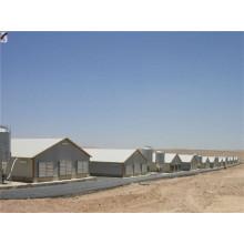 Maison préfabriquée de poulet de structure en acier (KXD-PCH1453)
