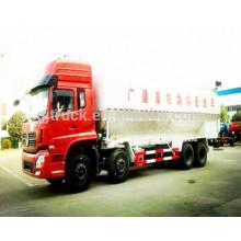 Camión del transporte de la alimentación animal a granel de 8x4 Dongfeng / camión ligero del transporte de la comida del pollo, camión del transporte de la comida animal, camión de la alimentación a granel
