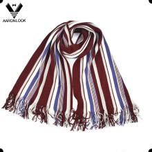 Мужская мода Красочные полоса Warp вязаные шарф