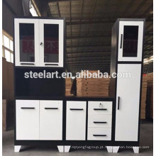 Armário de cozinha de metal design mais recente para venda com bom preço