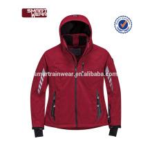 Atacado esportes de fitness jaqueta softshell impermeável, jaqueta de vento de alta qualidade ao ar livre, homem jaqueta de inverno