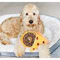 Donutz Squeaky Plush Dog Toy