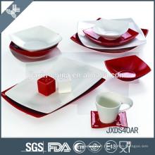 Ensemble de dîner en porcelaine de porcelaine de haute qualité