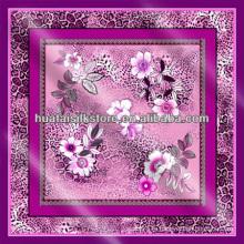 100% шелк тюркский леопард цветочный шарф